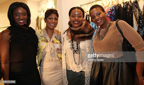 Lola Ogunnaike, Jocelyn R. Taylor, Tracy Reese and Carline Balan attend Shop for a Cause at the Tracy Reese Boutique on January 26, 2011 in New York...
