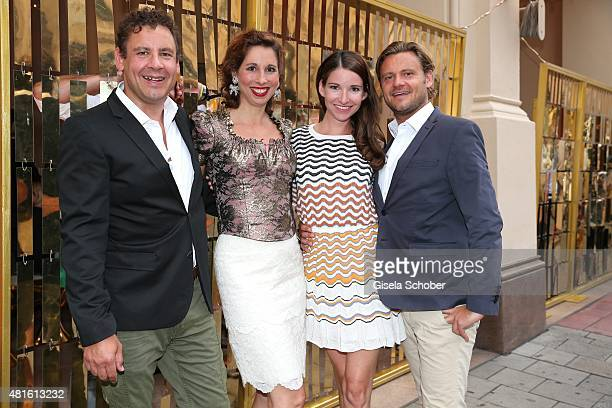 Lola Paltinger and her boyfriend Andreas Meister Sophie Wepper and her boyfriend David Meister during the Eclat Dore summer party at Hotel Vier...