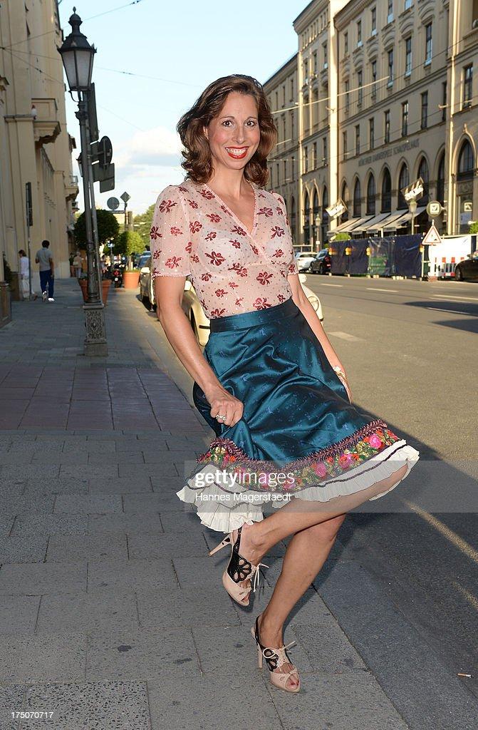 Lola Paltinger attends the Sommerfest Eclat Dore at Hotel Vier Jahreszeiten on July 30, 2013 in Munich, Germany.