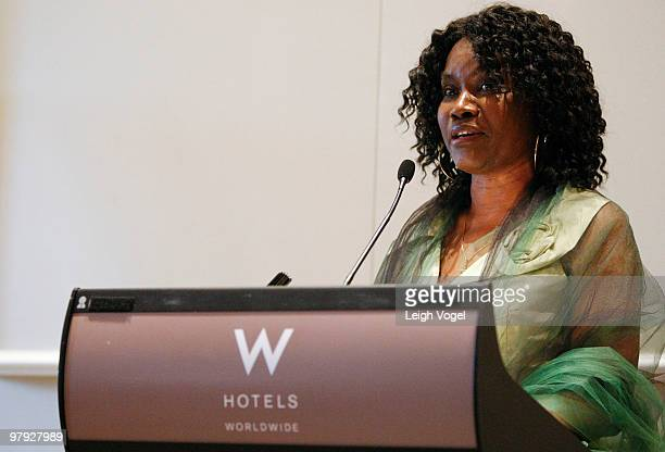 Lola Pioneer attends To Haiti With Love at the W Hotel Washington on March 21 2010 in Washington DC