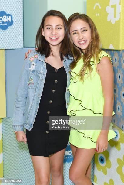 Lola Raie and Ava Kolker attend LANOOSH grand opening event hosted by Disney star Ava Kolker at LANOOSH on June 20 2019 in Glendale California