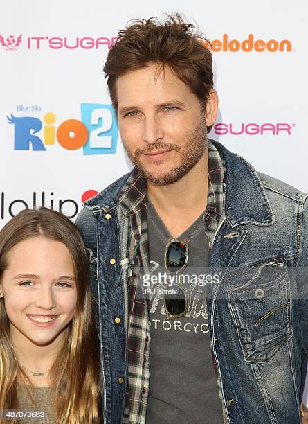 Lola Ray Facinelli and Peter Facinelli attend the Lollipop Theater Network Presents A Night Under The Stars Hosted By Anne Hathaway on April 26 2014...