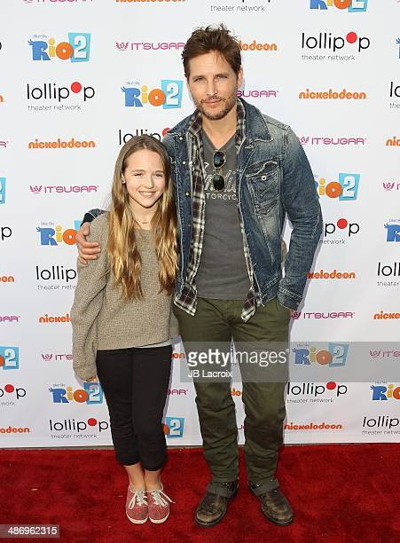 Lola Ray Facinelli and Peter Facinelli attends the Lollipop Theater Network Presents A Night Under The Stars Hosted By Anne Hathaway on April 26 2014...