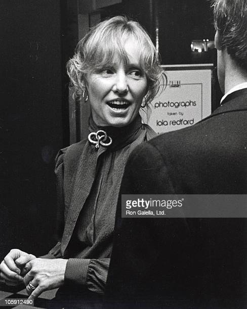 Lola Redford and guest during 1980 UNICEF Benefit at Bloomingdale's in New York City New York United States