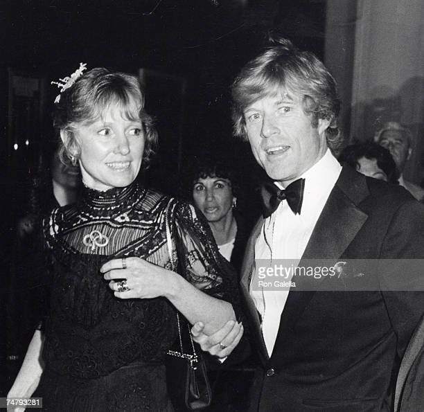 Lola Redford and Robert Redford at the Dorothy Chandler Pavillion in Los Angeles California