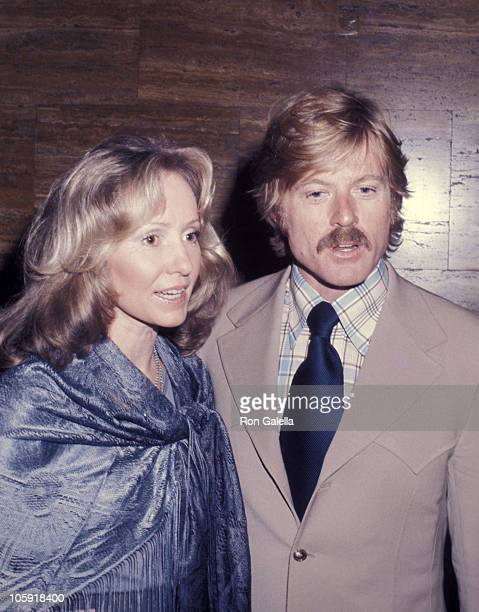 Lola Redford and Robert Redford during All the President's Men New York City Premiere April 5 1976 at Loew's Astor Plaza Theater in New York City New...