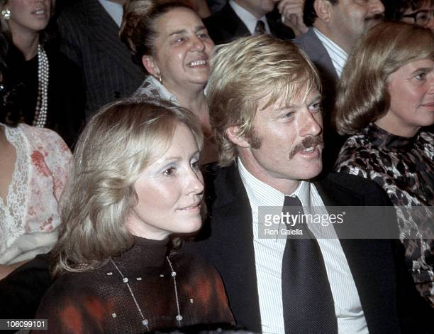 Lola Redford and Robert Redford during Frank Sinatra Concert Performance at Madison Square Garden in New York City New York United States
