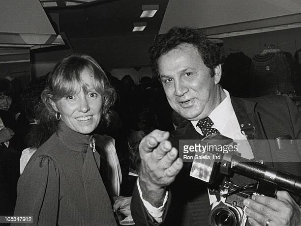 Lola Redford and Ron Galella during 1980 UNICEF Benefit at Bloomingdale's in New York City New York United States
