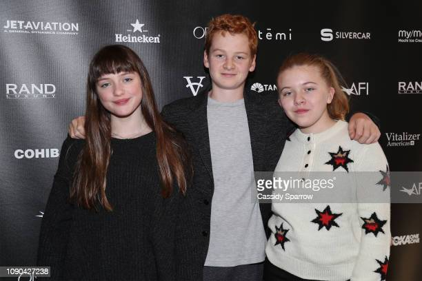 Lola Reid Alex Rubin and Lola Wayne Villa attend Tangerine Entertainment's Reception for How Does it Start Hosted At The RAND Luxury Escape at St...