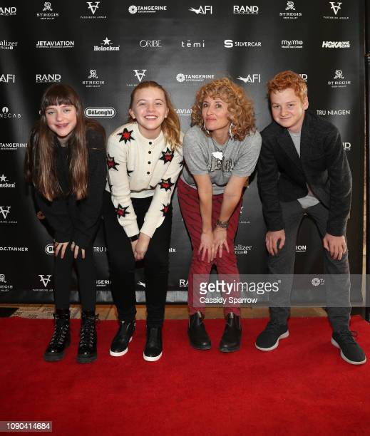 Lola Reid Lola Waybe Villa Amber Sealey and Alex Rubin attend Tangerine Entertainment's Reception for How Does it Start Hosted At The RAND Luxury...