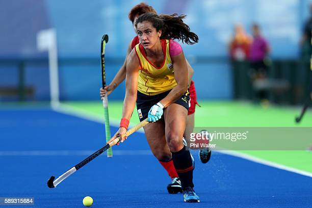 Lola Riera of Spain in action in the Women's Pool A match between the Republic of Korea and Spain on Day 8 of the Rio 2016 Olympic Games at the...