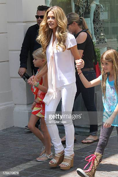 Lola Rose Sheen Denise Richards and Sam J Sheen as seen on June 13 2013 in Los Angeles California
