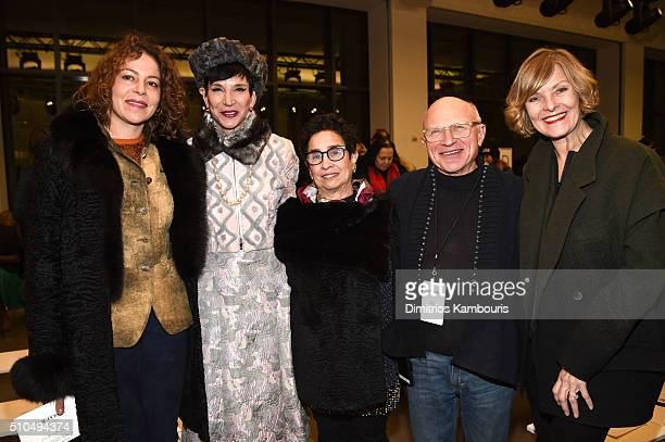 Lola Schnabel Amy Fine Collins Susan Posen Stephen Posen and Susan Davidson attend the Zac Posen Fall 2016 fashion show during New York Fashion Week...