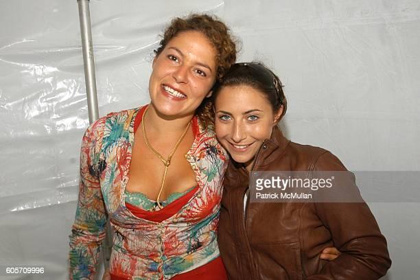 Lola Schnabel and Stella Keitel attend Bridgehampton Polo Hosted by Brooke Shields at TMobile Sidekick 3 Lounge on July 22 2006