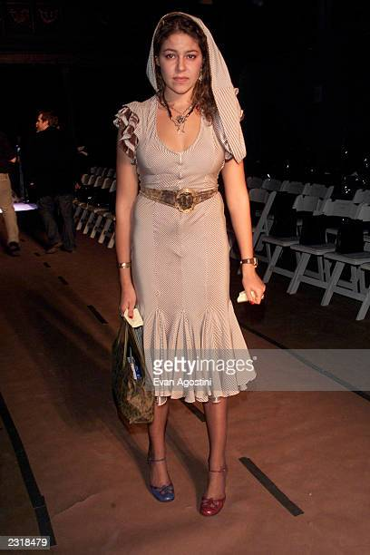 Lola Schnabel attending the Zac Posen Fall 2002 fashion show at the Angel Orensanz Foundation during Mercedes-Benz Fashion Week in New York City....