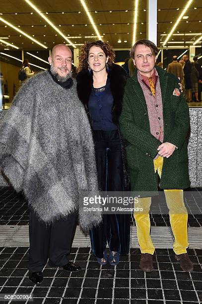 Lola Schnabel attends the opening of 'Goshka Macuga To The Son of Man Who Ate the Scroll' at Fondazione Prada on February 3 2016 in Milan Italy