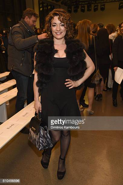 Lola Schnabel attends the Zac Posen Fall 2016 fashion show during New York Fashion Week at Spring Studios on February 15 2016 in New York City