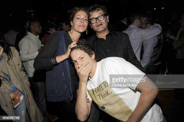 Lola Schnabel Vito Schnabel and Stephane Marais attend Grand Opening of THE GRIFFIN at The Griffin on April 30 2009 in New York City