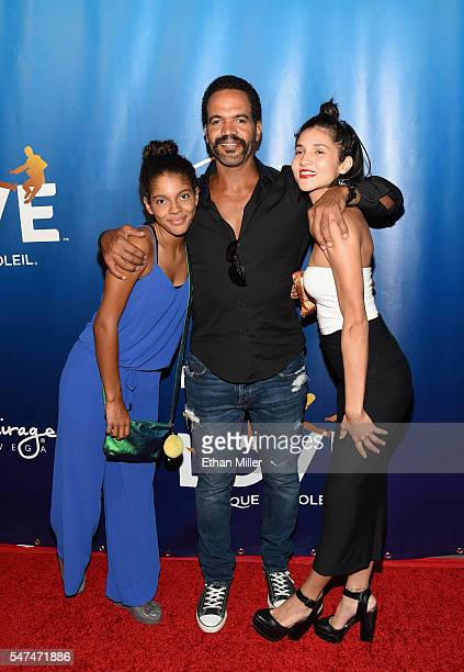 Lola St John actor Kristoff St John and Paris St John attend the 10th anniversary celebration of The Beatles LOVE by Cirque du Soleil at The Mirage...