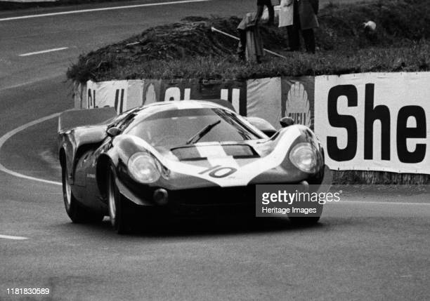 Lola T70 Aston during test day at Le Mans 1967 Creator Unknown