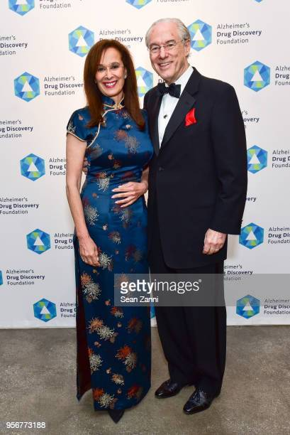 Lola Thomas and George Vradenburg attend Alzheimer's Drug Discovery Foundation 12th Annual Connoisseur's Dinner at Sotheby's on May 3 2018 in New...
