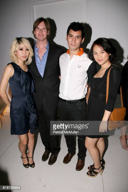 Lola Wang Philip Tabor Joseph Algranti and Joanne Ho attend DRINKS IN JEAN NOUVEL PENTHOUSE hosted by Holly Parker Trish Riedel and Philip Tabor at...