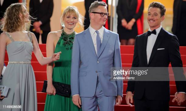 Lola Winding Refn Liv Corfixen Nicolas Winding Refn and Miles Teller attend the screening of Too Old To Die Young during the 72nd annual Cannes Film...