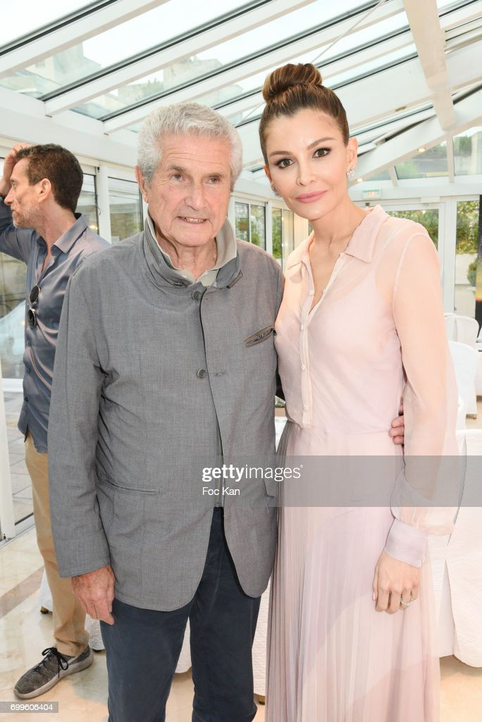 Lola-Karimova Tillyaeva (R) and Claude Lelouch attend 'Ulugh Beg The Man Who Unlocked the Universe ' Screening Cocktail at Club 13 and Dinner at Hotel Hoche on June 21, 2017 in Paris, France.
