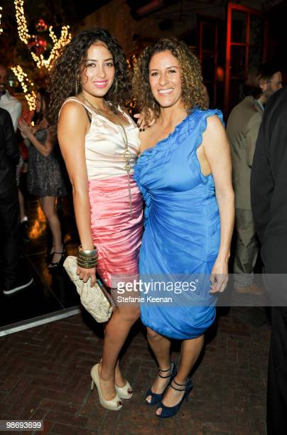 Loleen and Francisca Moroder attend Giorgio Moroder's Surprise Birthday Party at Spago on April 26 2010 in Beverly Hills California