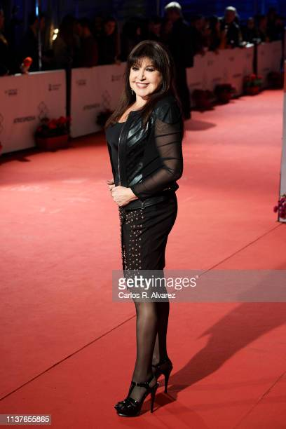 Loles Leon attends 'Retrospectiva' award during the 22th Malaga Film Festival on March 22 2019 in Malaga Spain