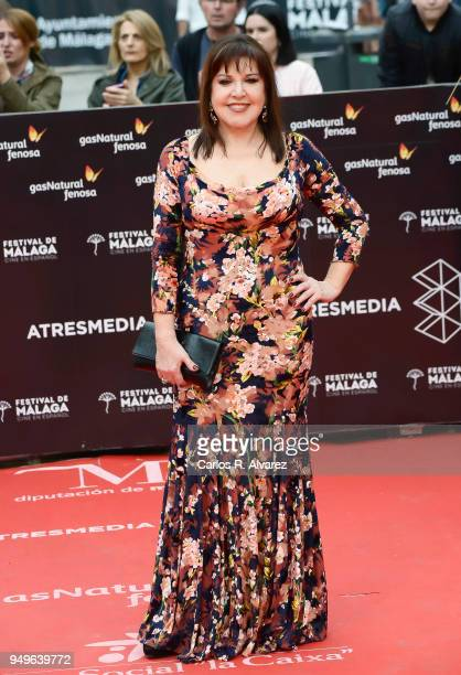 Loles Leon attends the 21th Malaga Film Festival closing ceremony at the Cervantes Teather on April 21 2018 in Malaga Spain
