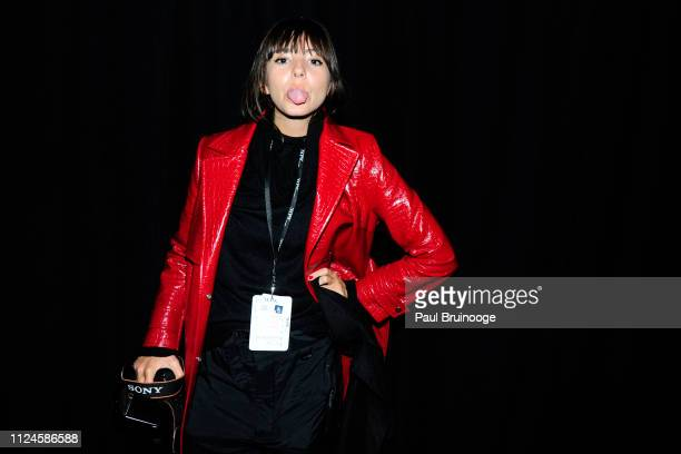 Loli Laboureau backstage at The Blonds show during New York Fashion Week The Shows at Gallery I at Spring Studios on February 12 2019 in New York City