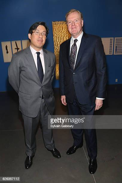 Loli Wu and Doug Waggoner attend 450 Park Office Opening at Phillip Art Gallery on November 28 2016 in New York City