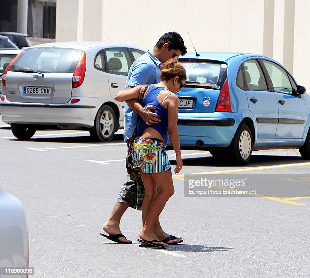 Lolita and her husband Pablo Duran are sighting on July 13 2011 in Ibiza Spain