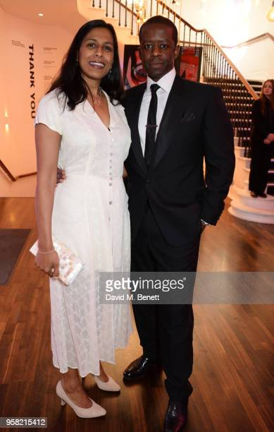 Lolita Chakrabarti and Adrian Lester attend The Old Vic Bicentenary Ball to celebrate the theatre's 200th birthday at The Old Vic Theatre on May 13,...