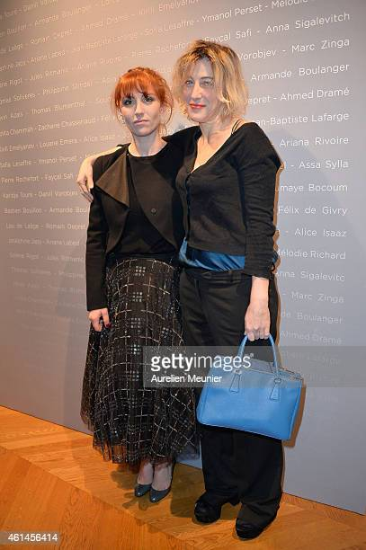Lolita Chammah and Valeria Bruni Tedeschi attend the 'Cesar Revelations 2015' Cocktail Party at Salons Chaumet on January 12 2015 in Paris France