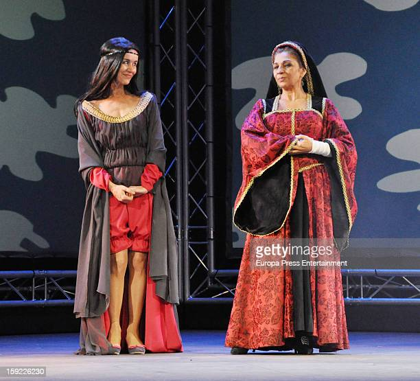 Lolita Flores and Ana Hurtado attend the presentation of 'Sofocos' on January 9 2013 in Madrid Spain