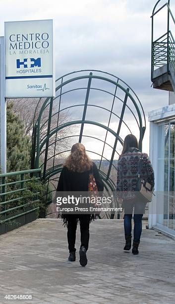 Lolita Flores and her daughter Elena Furiase are seen on January 30 2015 in Madrid Spain