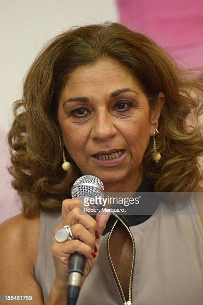 Lolita Flores attends a press presentation for her latest theater work 'Mas Sofocos' at the Teatre Condal on October 21 2013 in Barcelona Spain