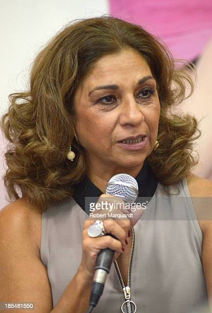 Lolita Flores attends a press presentation for her latest theatre work 'Mas Sofocos' at the Teatre Condal on October 21 2013 in Barcelona Spain