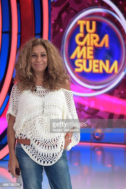 Lolita Flores attends a press presentation for the 4th season of 'Tu Cara Me Suena' at the Antena 3 studios on September 17 2015 in Barcelona Spain