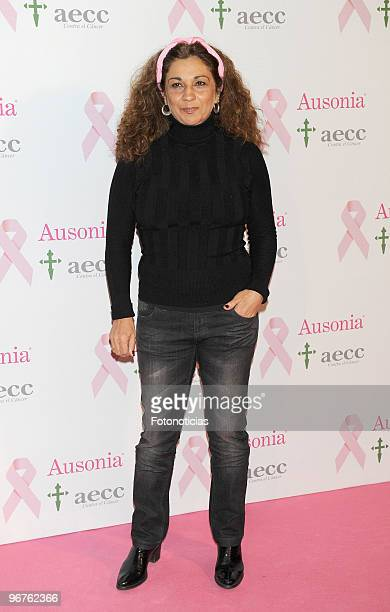 Lolita Flores attends 'Ausonia Against Breast Cancer' event at Moma on February 16 2010 in Madrid Spain