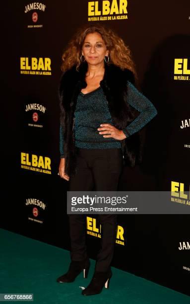 Lolita Flores attends 'El Bar' premiere at Callao cinema on March 22 2017 in Madrid Spain