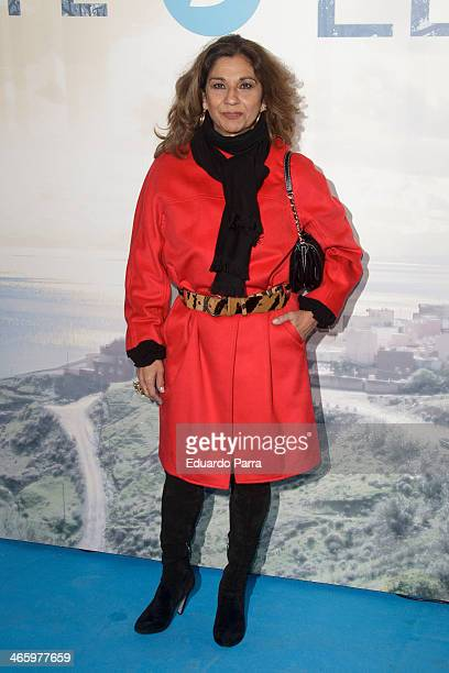 Lolita Flores attends 'El principe' premiere at Callao cinema on January 30 2014 in Madrid Spain