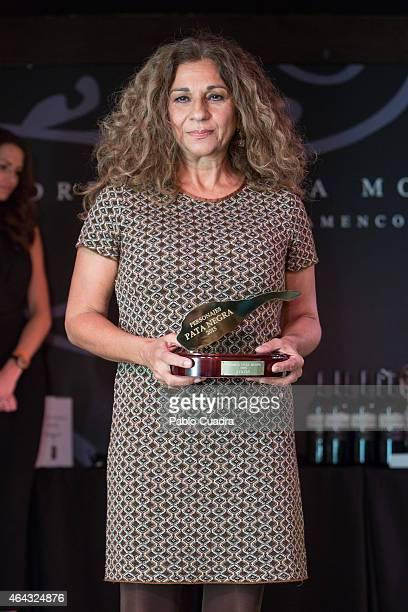 Lolita Flores attends Pata Negra awards ceremony at 'Corral de la Moreria' on February 24 2015 in Madrid Spain