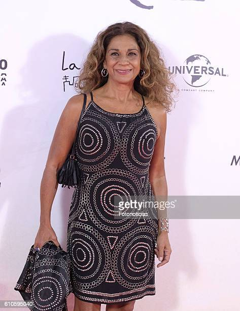 Lolita Flores attends the 'A Monster Calls' premiere at The Royal Theatre on September 26 2016 in Madrid Spain