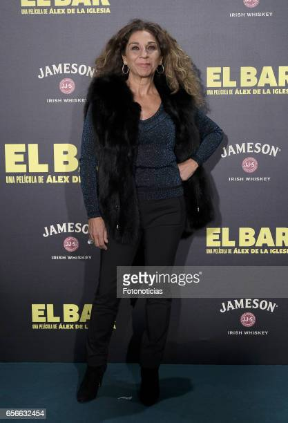 Lolita Flores attends the 'El Bar' premiere at Callao cinema on March 22 2017 in Madrid Spain