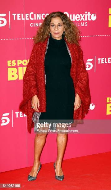 Lolita Flores attends the 'Es por tu bien' premiere at Capitol cinema on February 22 2017 in Madrid Spain