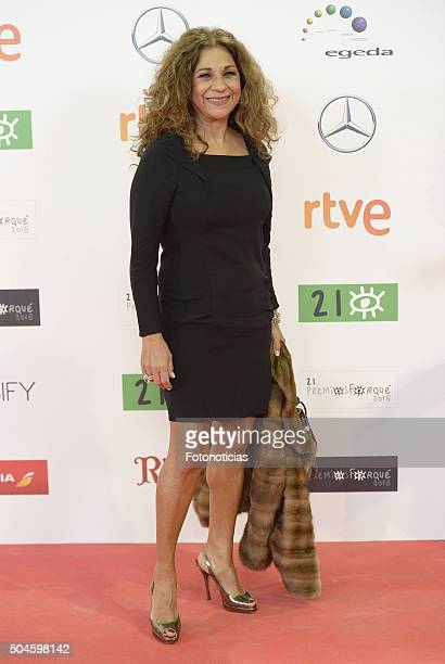 Lolita Flores attends the Jose Maria Forque Awards at the Palacio de Congresos on January 11 2016 in Madrid Spain