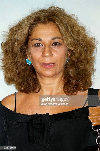 Lolita Flores attends the 'The Impossible' premiere at Kinepolis cinema on October 8 2012 in Madrid Spain